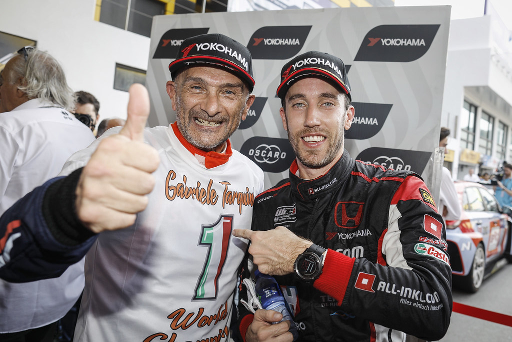 TARQUINI Gabriele, (ita), Hyundai i30 N TCR team BRC Racing, portrait GUERRIERI Esteban, (arg), Honda Civic TCR team ALL-INKL.COM Munnich Motorsport, portrait during the 2018 FIA WTCR World Touring Car cup of Macau, Circuito da Guia, from november  15 to 18 - Photo Francois Flamand / DPPI
