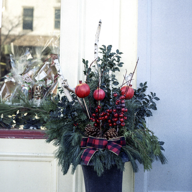 Holiday Planter with Apples