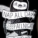 Nap All Day, Sleep All Night, Party Never by Thomas Hawk