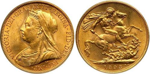 1893 British Gold Sovereign