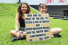 Jack and Jill went up the hill....Melbourne climate march for our future - #stopAdani - IMG_3769