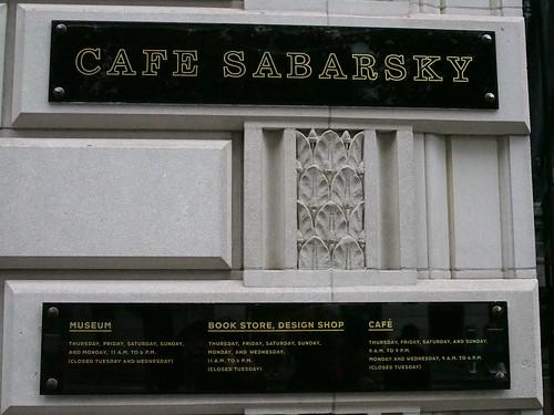 Cafe Sabarsky
