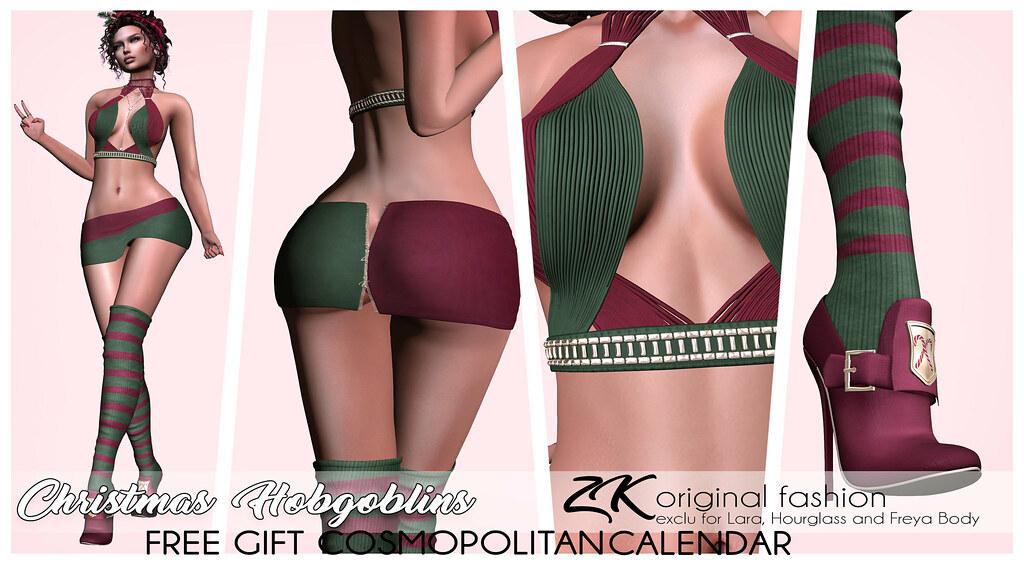 -:zk:- Christmas Hobgoblins Free gift Cosmo Calendar