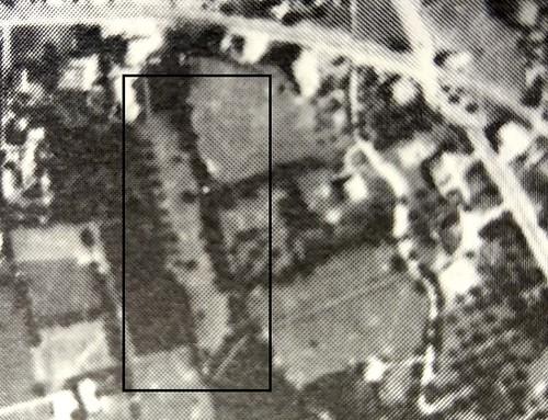 Il 'Muraglione' in una ripresa aerea degli anni '60