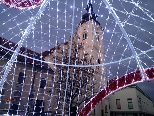 čakovec cakovec međimurje hrvatska croatia zgrade park cvijeće drveća palača perivoj jesen advent