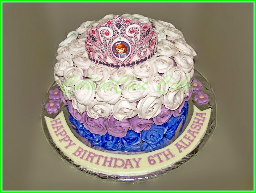 Cake Flowers Crown ALEASHA 20 cm