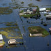 Floodwaters recede near Lake Sabine on the Texas-Louisiana border. Photo // Civil Air Patrol