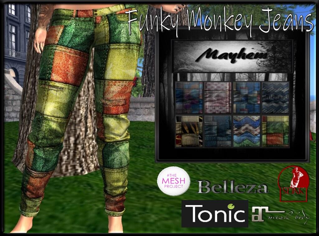 Mayhem Funky Monkey Jeans AD - TeleportHub.com Live!