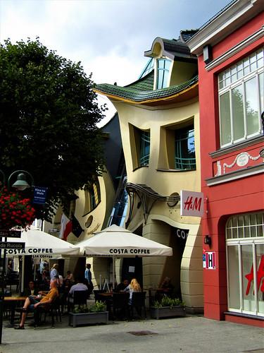 Krzywy Domek in Sopot, Poland
