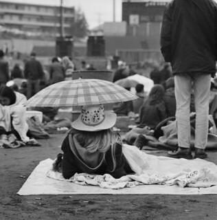Rock festival at Sick's Stadium, 1970