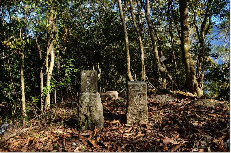 濁水溪山編號7183號的三等三角點及冠字補近(20)的山字森林三角點(Elev. 1282 m) 1