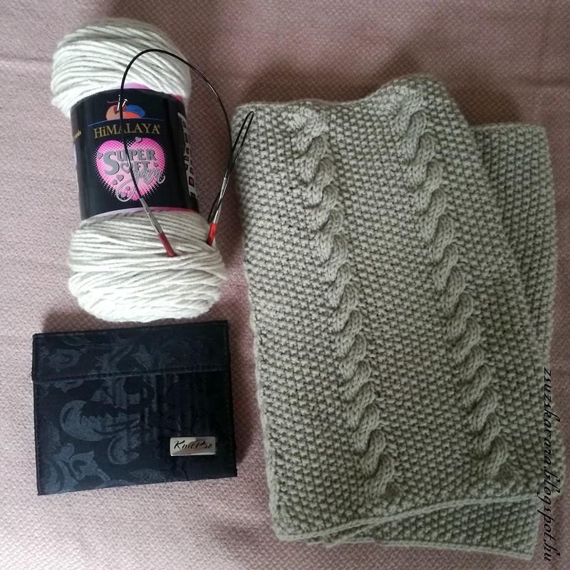 cowl, infinity cowl, himalayasupersoft, beige, knitting, knitpro (3)