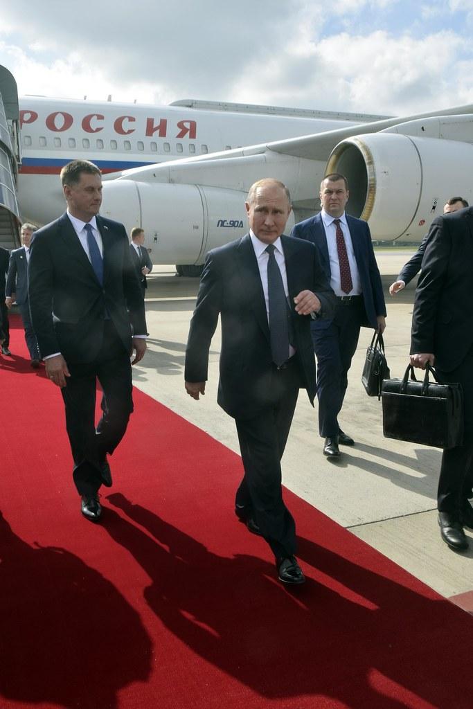 Llegada de Vladimir Putin, presidente de Rusia