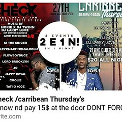 ((MIC CHECK 💥)) 🎬 DECEMBER 27th Milk River🚨 2 Events 1 Night! Mic Check 8 Upcoming Artists performing.. Caribbean Thursday's🌴 Music Powered By @djnorie of 105.1 @djtwinn1 @djmrcuts @larryloveofficial Organized by