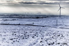 View from Scout Moor of Manchester