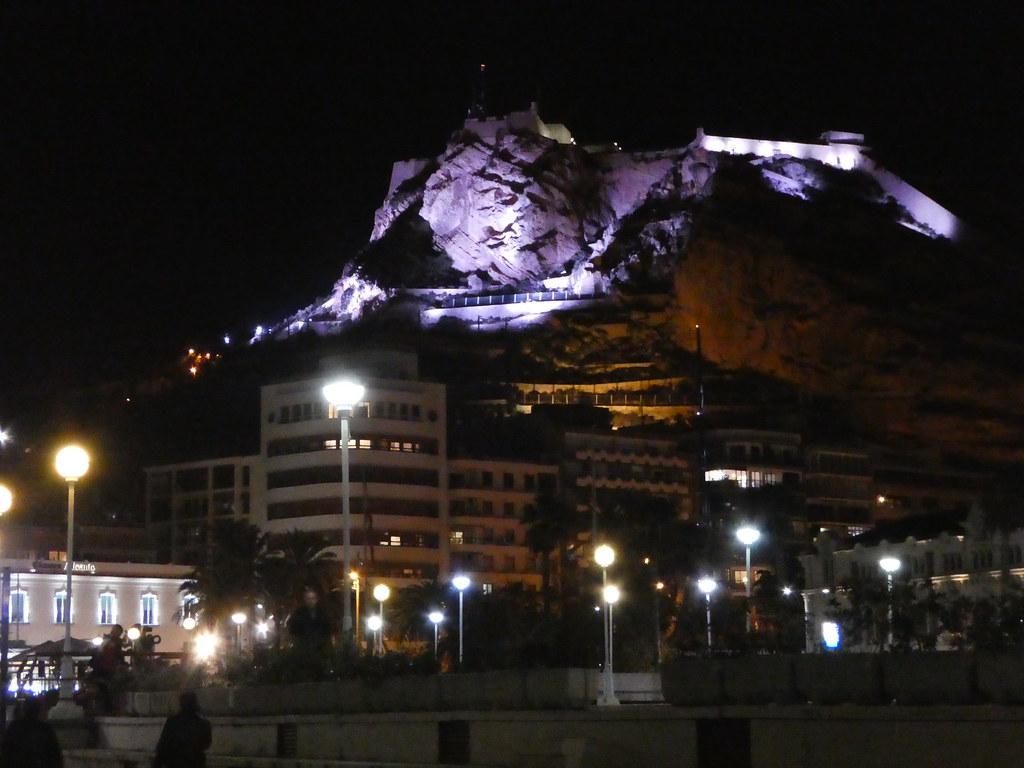 Santa Barbara castle at night, Alicante