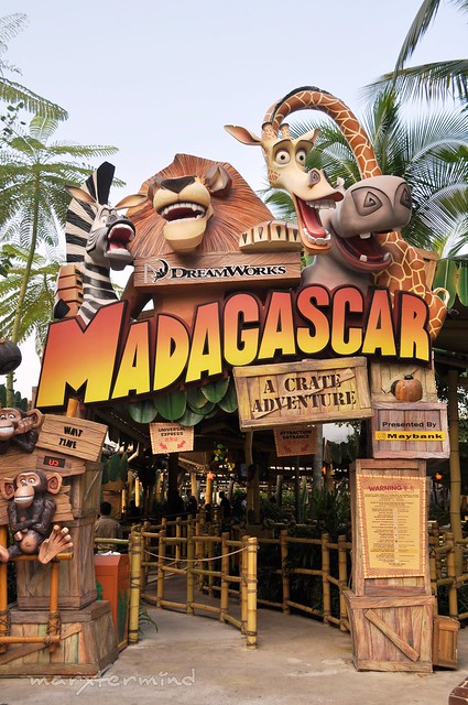 Madagascar Ride at Universal Studios Singapore