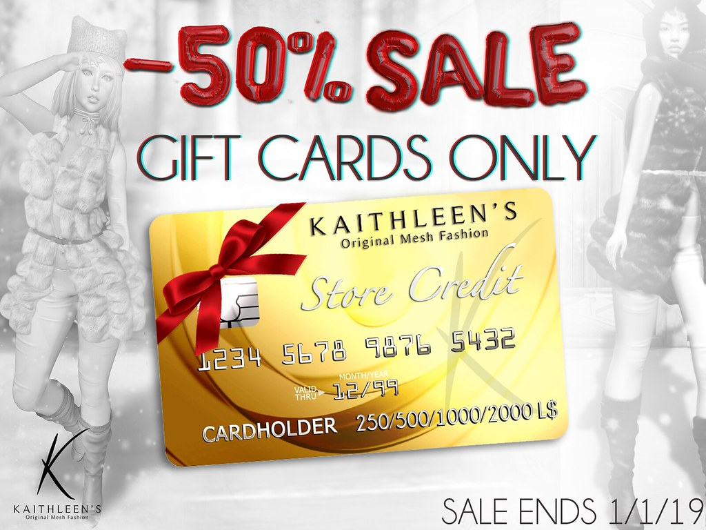 Kaithleen's -50% SALE ON GIFT CARDS