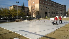 Unreal Ice Rink set up in Barcelona (Spain)