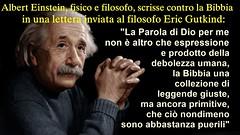 Albert Einstein ha disprezzato la Bibbia