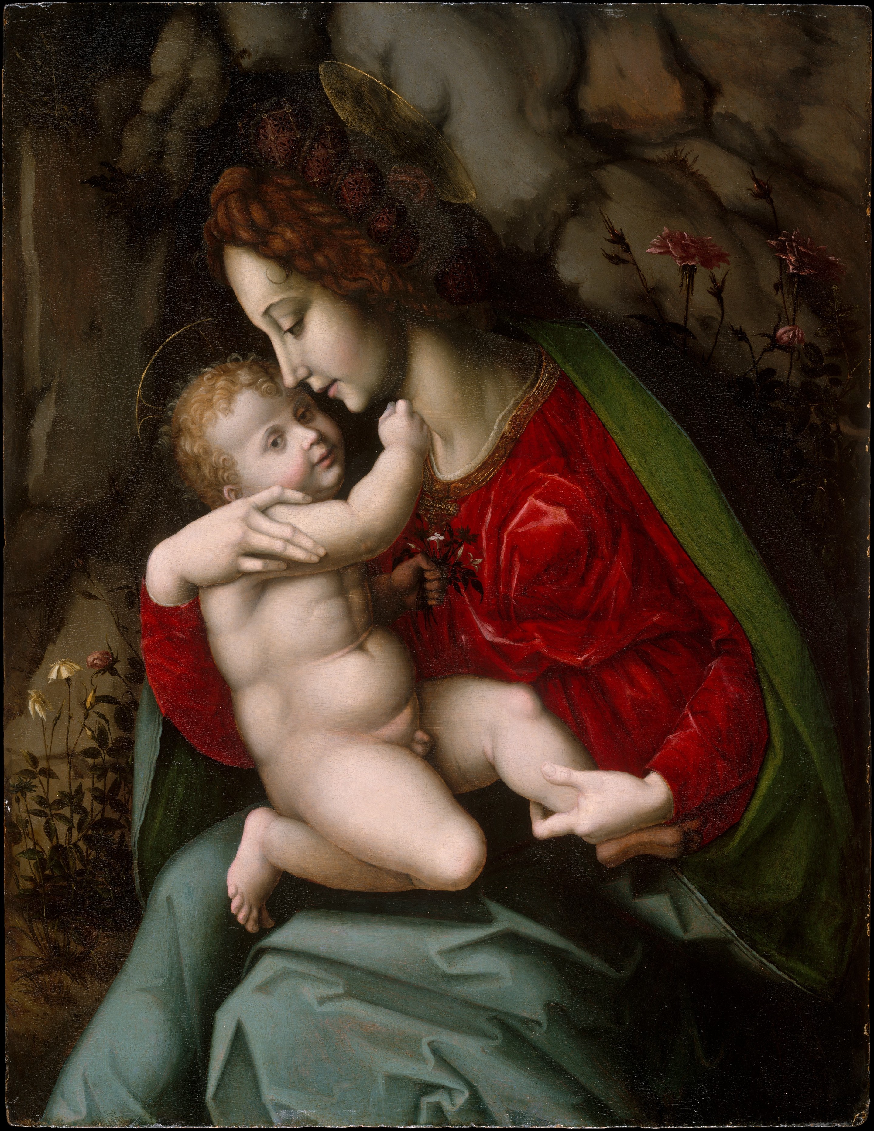 The 2018 U.S. Madonna and Child stamp (Scott #5331) features a detail of an oil-and-gold-on-panel painting by Italian Renaissance artist Francesco d'Ubertino Verdi (1494–1557), known as Bachiacca. Dating from the early 1520s, the painting is part of the Jack and Belle Linsky Collection at the Metropolitan Museum of Art in New York City. William J. Gicker served as art director for this stamp, and Greg Breeding was the designer. The first day of issue ceremonies were held on October 3 in Santa Fe, New Mexico.