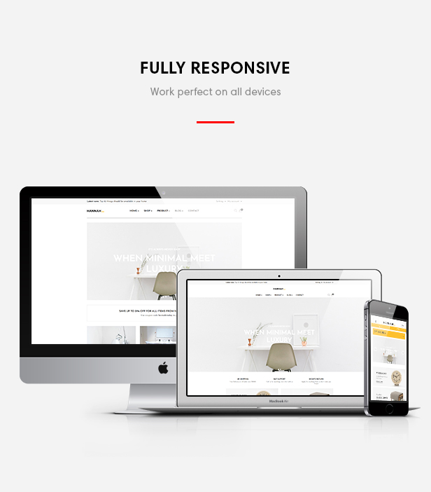 Ap Hannah for furniture store, interior store and multiple stores, fully responsive
