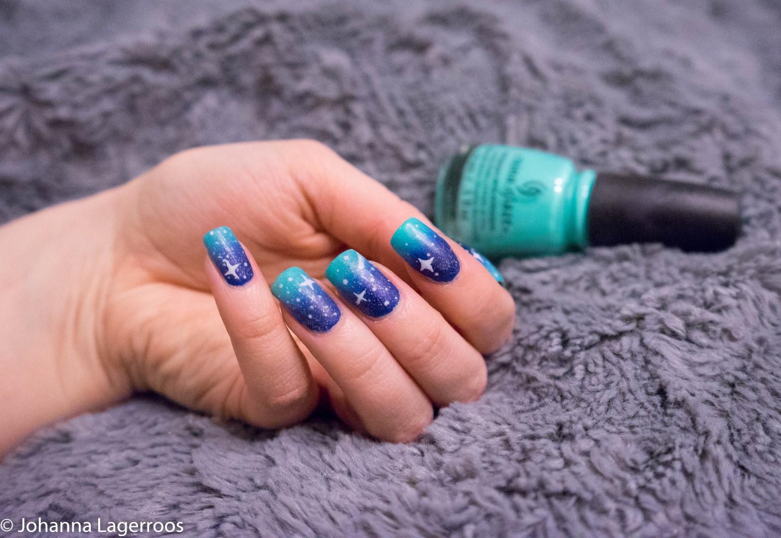 china glaze blue nails