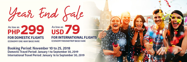 Philippine Airlines Year End Sale 2018