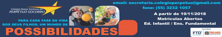 Colégio Perpétuo Socorro - matrículas abertas a partir de 19 de novembro