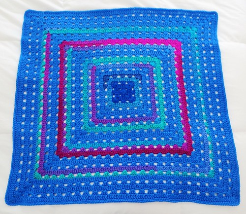 Blues Grannie Square Blanket