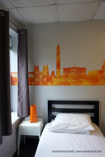 My Bed at HI Washington DC Hostel