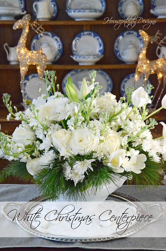 White Christmas Centerpiece-Housepitality Designs-14