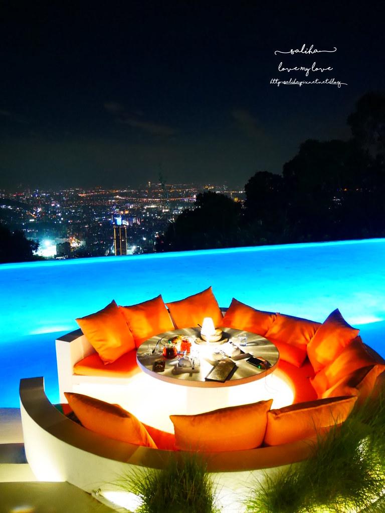台北陽明山一日遊必吃必玩行程景點推薦THETOP屋頂上好吃景觀餐廳看夜景池畔 (8)