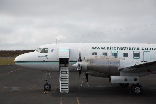 Air Chathams Convair 580 on stand