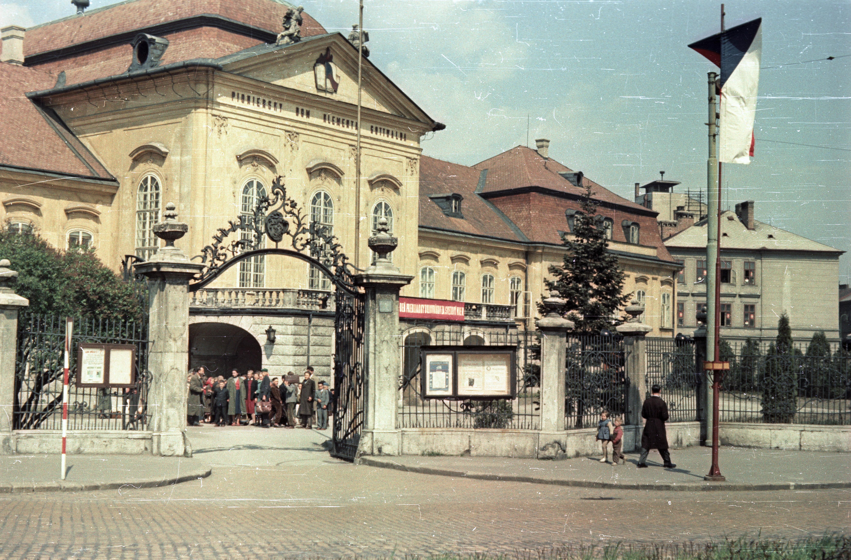 Братислава. Замок Грашшалковичей (тогда Дворец Пионеров им. Клемента Готвальда)