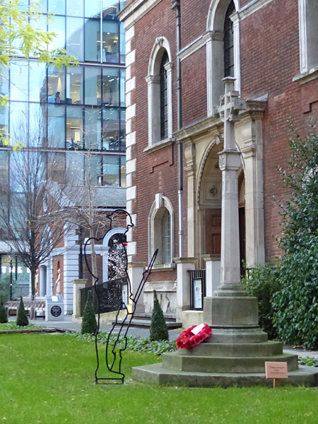 monument aux morts Liverpool street