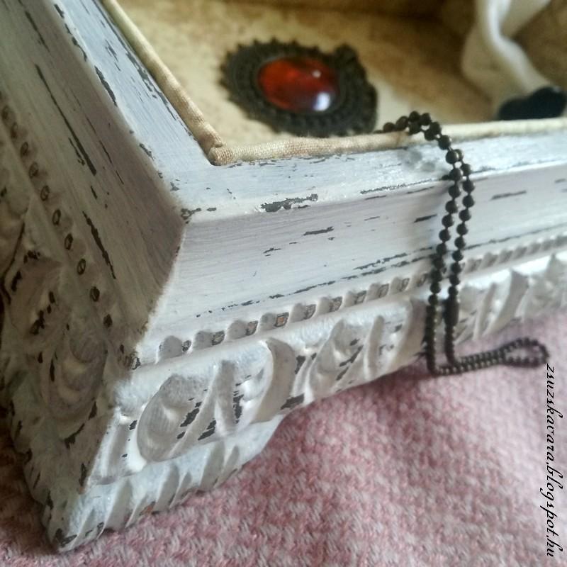 diy painted box, antique