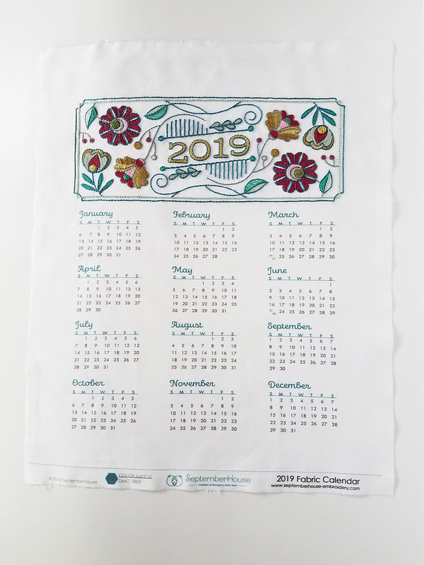 Finished SeptemberHouse calendar