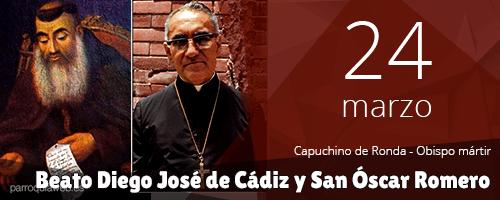 Beato Diego José de Cádiz y San Óscar Romero