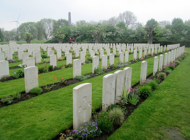 Graves at Essex Farm Cemetery, Ypres