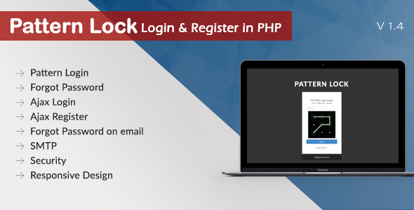 Pattern Lock Login Register in PHP