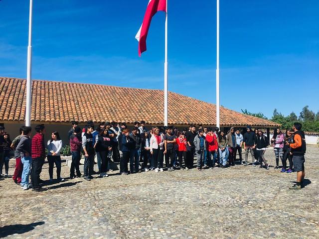 Estudiantes destacados visitan Ninhue
