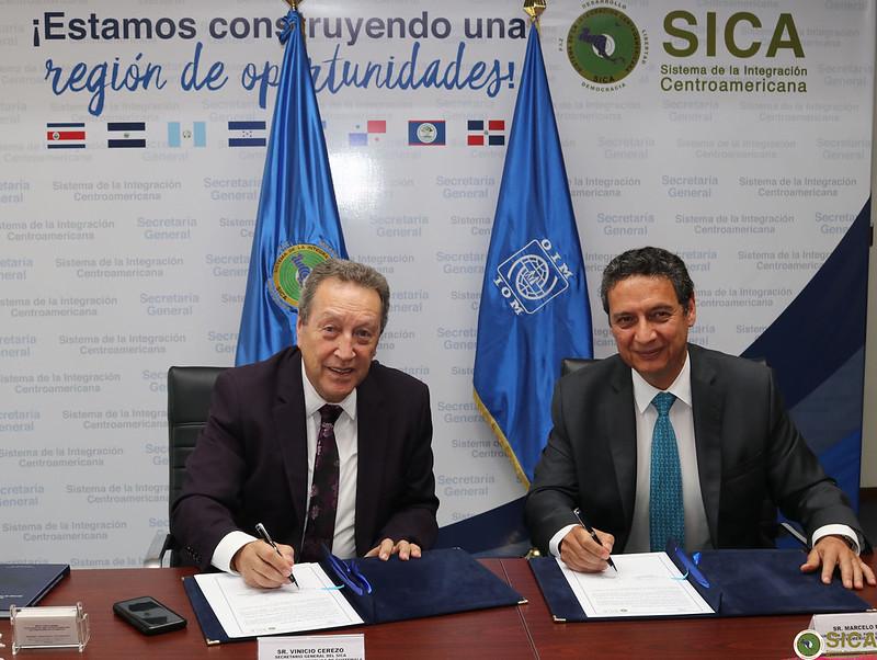 Firma Acuerdo de Cooperación Interinstitucional entre SG SICA y la Organización Internacional para las Migraciones (OIM)