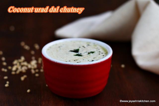 Coconut urad dal chutney