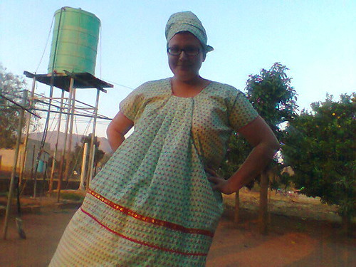 Me in the traditional outfit given to me by my host family in the Peace Corps in South Africa (2013). Catherine Cottam: #VolunteerAbroadBecause It Will Shape You