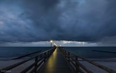 Seebrücke Zingst im ersten Morgenlicht