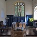 039-20180927_Great Washbourne Church-Gloucestershire-Sanctuary, with Altar and E Window, viewed from beneath Chancel Arch