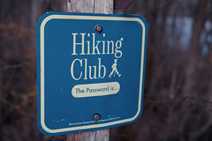 Hiking Club Password Sign, Wild River State Park