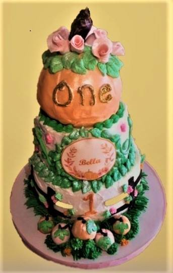 Pumpkin Patch Cake by Lady Sweet Cakes