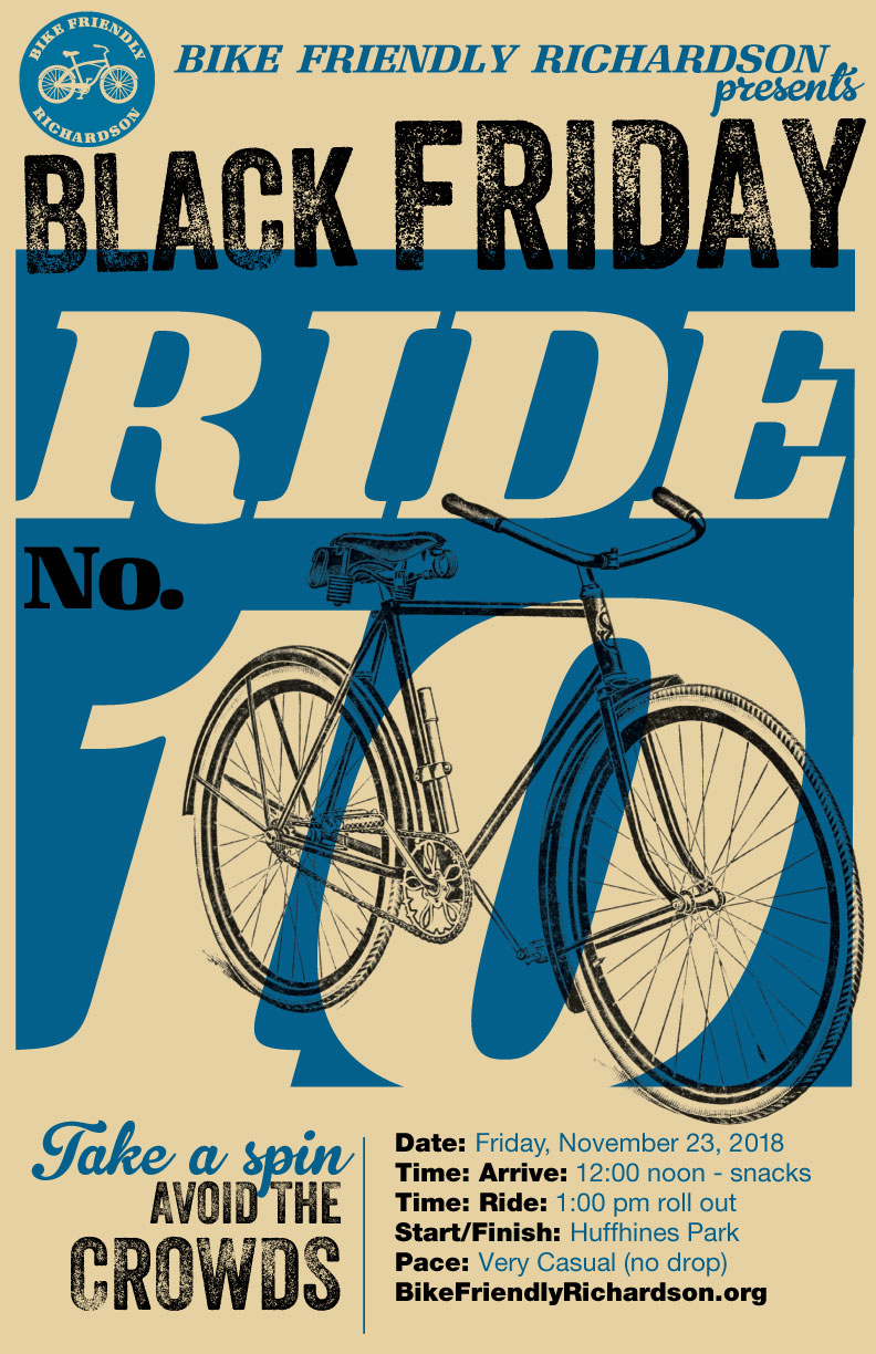 Bike Friendly Richardson Presents  Black Friday Ride  10 b1d00005d